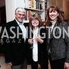 George Casey, Margaret Carlson, Sheila Casey. Photo by Tony Powell. David McCallum Book Party. Isham Residence. January 15, 2016