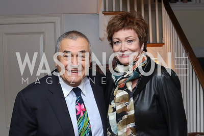 Tony Podesta, Ellen Tauscher. Photo by Tony Powell. The David Rubenstein Show Launch. December 13, 2016