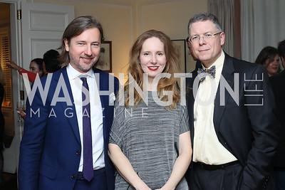 Christopher Reiter, Juleanna Glover, Chris Ullman. Photo by Tony Powell. The David Rubenstein Show Launch. December 13, 2016