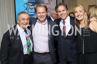 Tony Podesta, Justin Smith, Tony Blinken, Kat Cusani-Visconti. Photo by Tony Powell. The David Rubenstein Show Launch. December 13, 2016