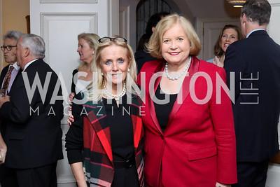 Debbie Dingell, Sharon Percy Rockefeller. Photo by Tony Powell. The David Rubenstein Show Launch. December 13, 2016