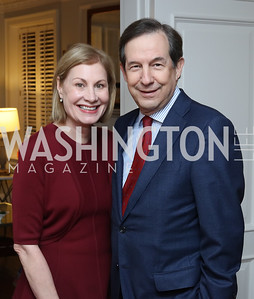 Lorraine and Chris Wallace. Photo by Tony Powell. The David Rubenstein Show Launch. December 13, 2016