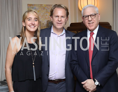 Kat Cusani-Visconti, Justin Smith, David Rubenstein. Photo by Tony Powell. The David Rubenstein Show Launch. December 13, 2016