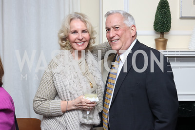 Sally Quinn, Walter Isaacson. Photo by Tony Powell. The David Rubenstein Show Launch. December 13, 2016