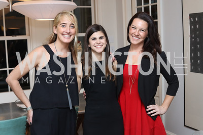 Kat Cusani-Visconti, Christina Keller, Liz Penning. Photo by Tony Powell. The David Rubenstein Show Launch. December 13, 2016