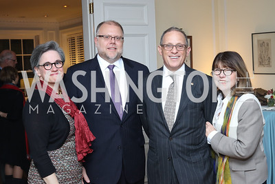Caroline Scullin, Scott Schloegel, Fred Hochberg, Margaret Carlson. Photo by Tony Powell. The David Rubenstein Show Launch. December 13, 2016
