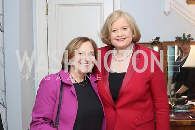 Ruth Marcus, Sharon Percy Rockefeller. Photo by Tony Powell. The David Rubenstein Show Launch. December 13, 2016