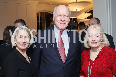 Anita Dunn, Sen. Patrick Leahy and Marcelle Leahy. Photo by Tony Powell. The David Rubenstein Show Launch. December 13, 2016
