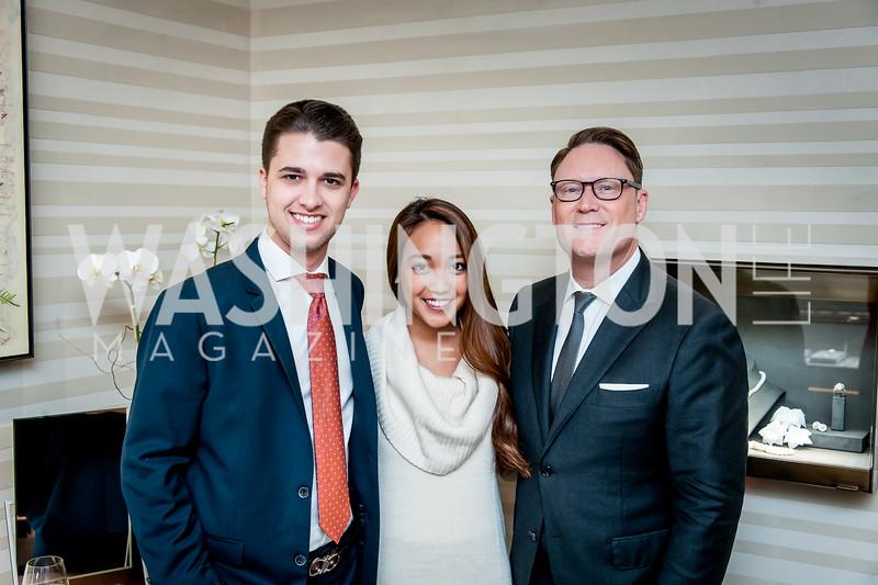Michael Zingali, Lyanne Buela, Timothy Lowery. Photo by Tony Powell. David Yurman CityCenterDC Opening. December 8, 2015