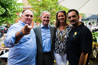Jose Andres, Joe and Reg Stettinius, Brian McNair. Dine-N-Dash VIP Event. June 15, 2016. Photo by Joy Asico.