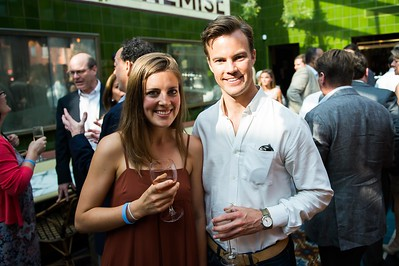 Kristin Luttrell, Austin Clemens. Dine-N-Dash VIP Event. June 15, 2016. Photo by Joy Asico.