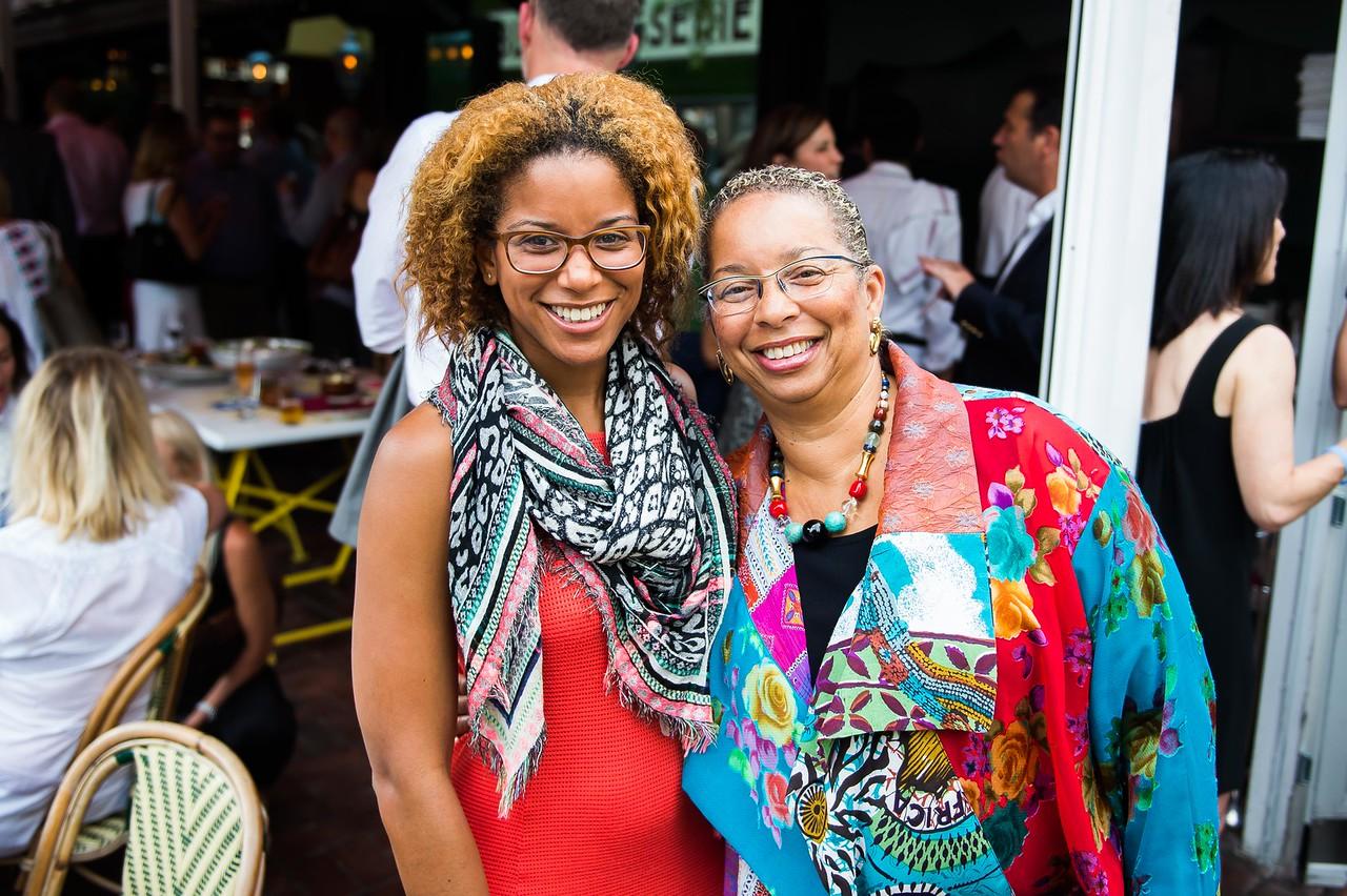 Morgan Fykes, Shireen Dodson. Dine-N-Dash VIP Event. June 15, 2016. Photo by Joy Asico.