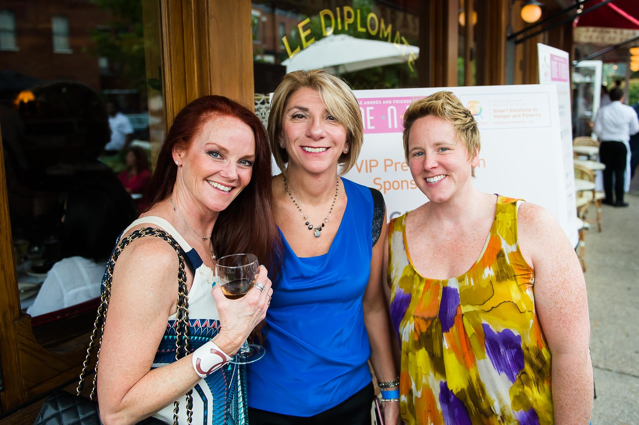 Jacqueline Boucher, Linda Massaway, Amber Johnson. Dine-N-Dash VIP Event. June 15, 2016. Photo by Joy Asico.