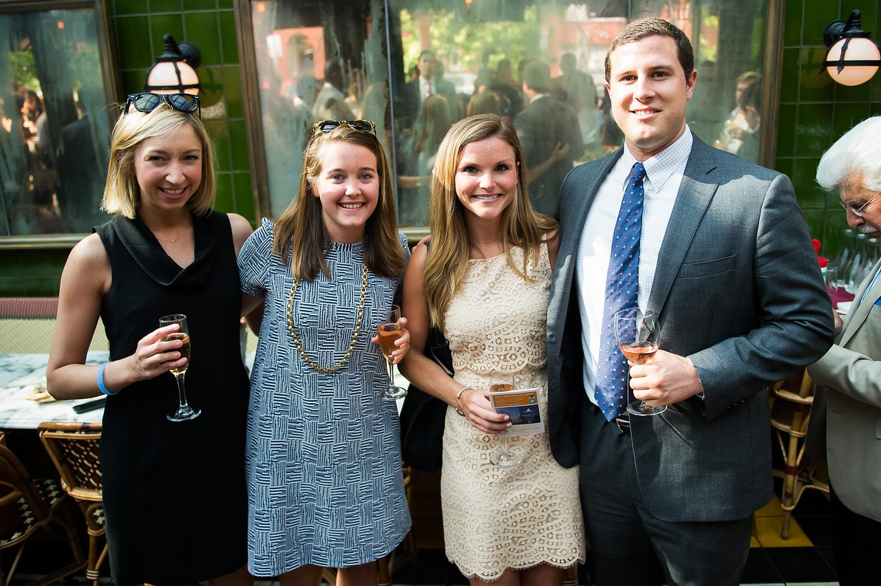 Callie Clemons, Olivia Vietor, Erin Cotter, Reed Miller. Dine-N-Dash VIP Event. June 15, 2016. Photo by Joy Asico.