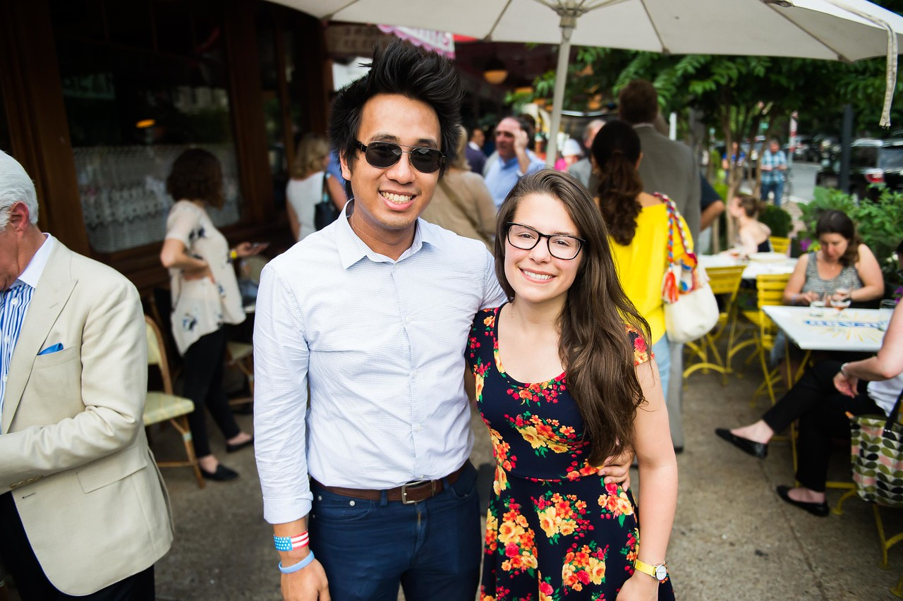 William Jimenez, Ashlyn Frassinelli. Dine-N-Dash VIP Event. June 15, 2016. Photo by Joy Asico.