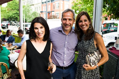 Tracy Bernstein, Winston Lord, Julie Dahlberg. Dine-N-Dash VIP Event. June 15, 2016. Photo by Joy Asico.