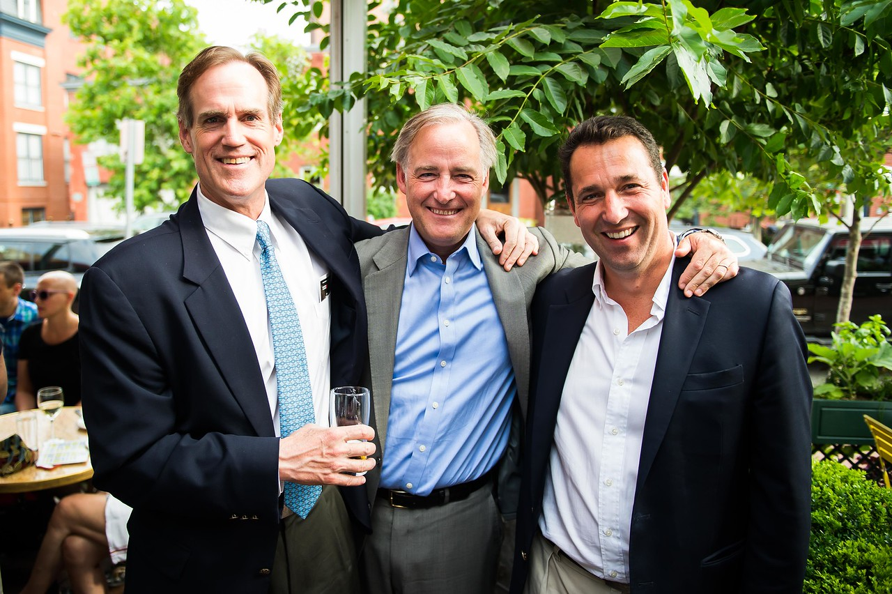 Art Santry, Joe Stettinius, Francois Delacroix. Dine-N-Dash VIP Event. June 15, 2016. Photo by Joy Asico.