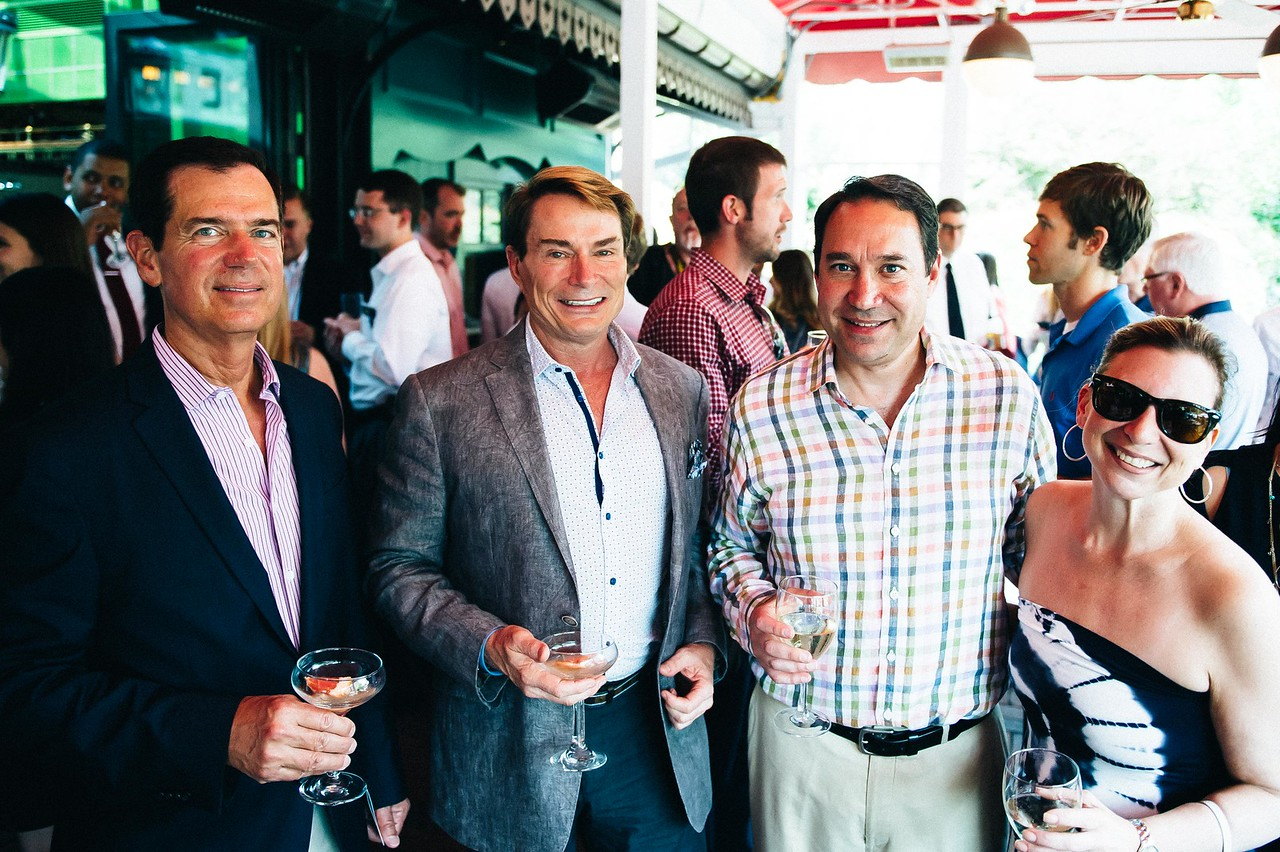Roger Rosenthal, Skip Sroka, Brad and Holly Mendelson. Dine-N-Dash VIP Event. June 15, 2016. Photo by Joy Asico.