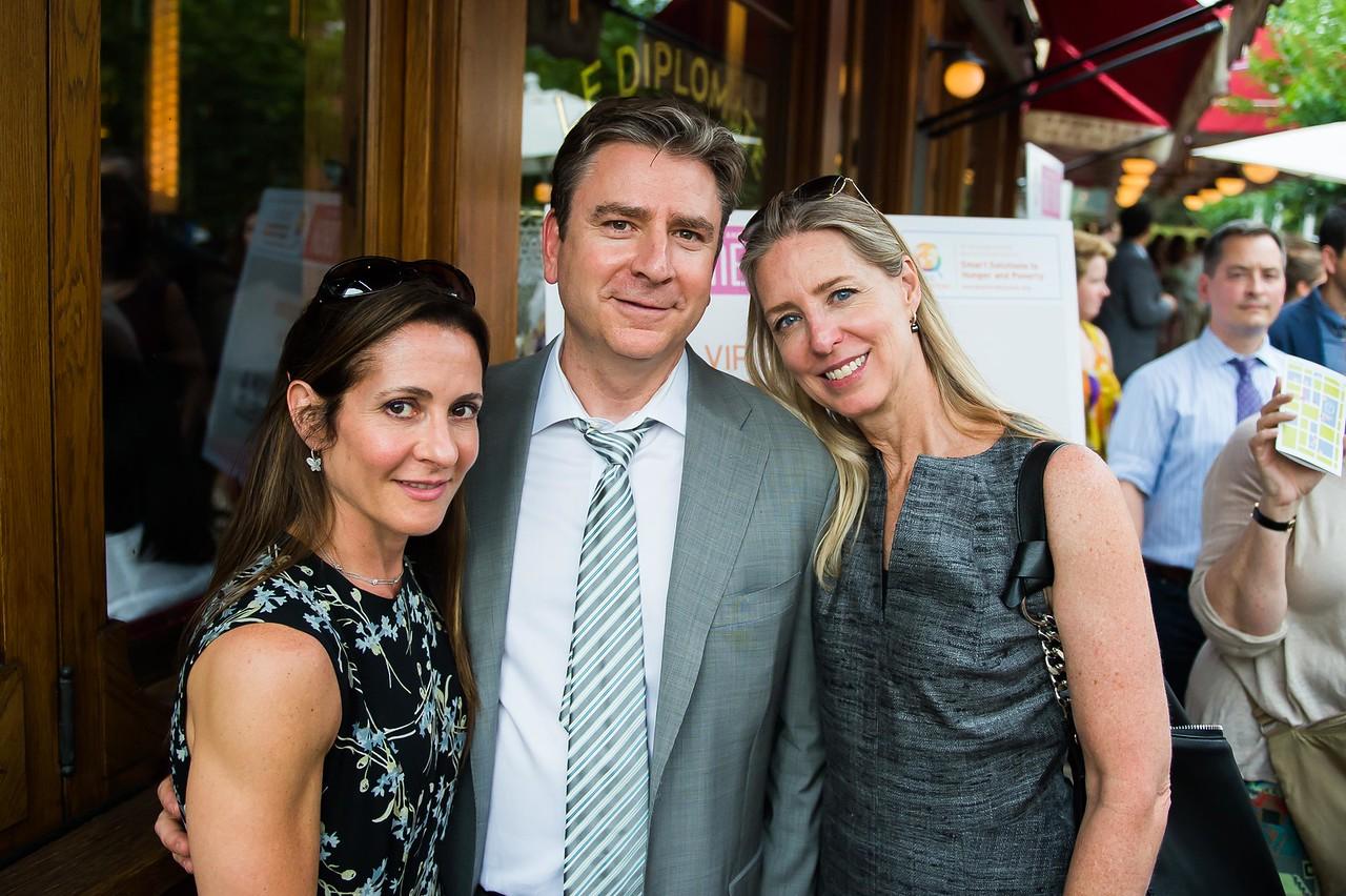 Karen Antebi, Scott Sinder, Jodie Kelley. Dine-N-Dash VIP Event. June 15, 2016. Photo by Joy Asico.