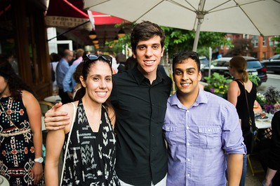 Alba Serrano, Daniel Serrano, Sumeet Gupta. Dine-N-Dash VIP Event. June 15, 2016. Photo by Joy Asico.