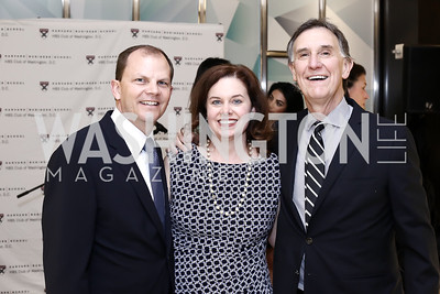 Greg Kinsella, Michele Kinsella, Amb. Doug Holladay. Photo by Tony Powell. HBS Dinner at Tiffany's. April 25, 2016