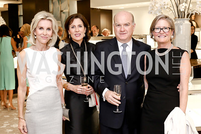 Mary Haft, Cristina and Pedro Burelli, Lisa Batter. Photo by Tony Powell. HBS Dinner at Tiffany's. April 25, 2016