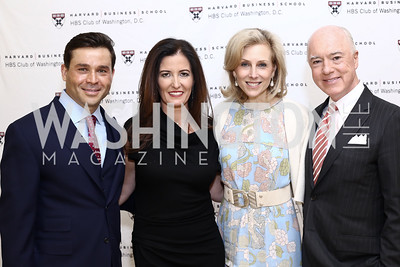 Antonio Alves, Diane Ray Brown, Katherine Bradley, David Bradley. Photo by Tony Powell. HBS Dinner at Tiffany's. April 25, 2016