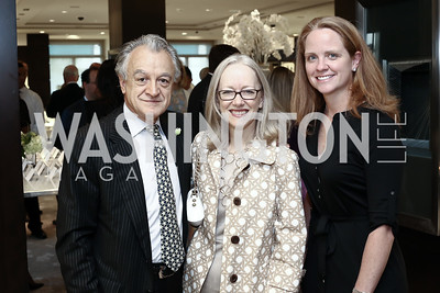 John Ktenas, Kathleen Delaski, Katie McNerney. Photo by Tony Powell. HBS Dinner at Tiffany's. April 25, 2016