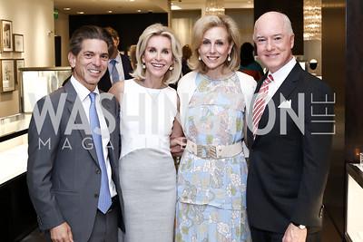 Robert and Mary Haft, Katherine and David Bradley. Photo by Tony Powell. HBS Dinner at Tiffany's. April 25, 2016