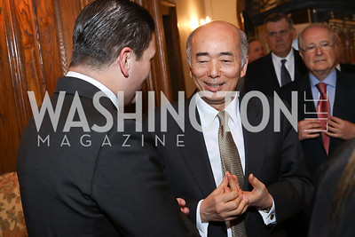 Japan Amb. Kenichiro Sasae. Photo by Tony Powell. Dinner for Rudy Giuliani. Residence of Colombia. December 7, 2016