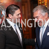 Colombia Amb. Juan Carlos Pinzon, Al Cardenas. Photo by Tony Powell. Dinner for Rudy Giuliani. Residence of Colombia. December 7, 2016