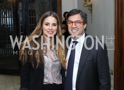 Gabriela Moreno and Luis Alberto Moreno. Photo by Tony Powell. Dinner for Rudy Giuliani. Residence of Colombia. December 7, 2016