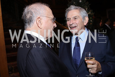 Michael Sonnenreich, Paul Wolfowitz. Photo by Tony Powell. Dinner for Rudy Giuliani. Residence of Colombia. December 7, 2016
