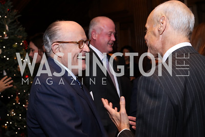Rudy Giuliani, Michael Chertoff. Photo by Tony Powell. Dinner for Rudy Giuliani. Residence of Colombia. December 7, 2016