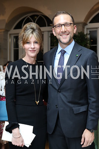 Elle Magazine Editor-in-Chief Robbie Myers, Amb. Peter Selfridge. Photo by Tony Powell. Diplomacy by Design. Blair House. October 21, 2016