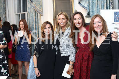 Lynda Erkiletian, Maria Trabocchi, Sondra Hoffman, Elizabeth McDavitt-Centenari. Photo by Tony Powell. Diplomacy by Design. Blair House. October 21, 2016
