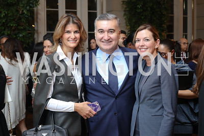 Lala Abdurahimova and Azerbaijan Amb. Elin Suleymanov, Marie Royce. Photo by Tony Powell. Diplomacy by Design. Blair House. October 21, 2016