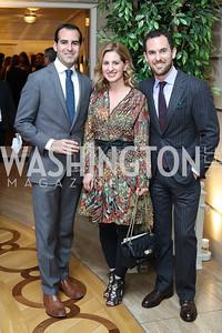 Joshua Teitelbaum, Marissa Mitrovich, Van Bloys. Photo by Tony Powell. Diplomacy by Design. Blair House. October 21, 2016