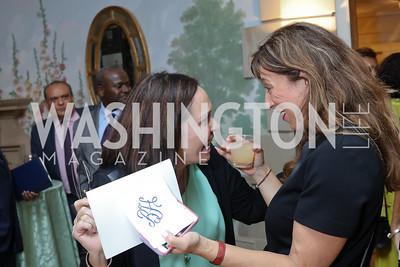 Elaine Gibbs, Carole Benis. Photo by Tony Powell. Diplomacy by Design. Blair House. October 21, 2016