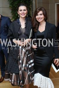 Vlora Citaku, Lendita Haxhitasim. Photo by Tony Powell. Diplomacy by Design. Blair House. October 21, 2016