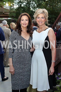 Lynda Carter, Kelly Ripken. Photo by Tony Powell. Embassy of Monaco 10th Anniversary. September 22, 2016