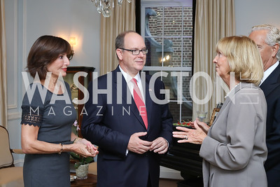 Monaco Amb. Maguy Maccario Doyle, HSH Albert II, Prince of Monaco, Wendy Benchley, John Jeppson. Photo by Tony Powell. Embassy of Monaco 10th Anniversary. September 22, 2016