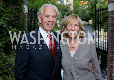 John Jeppson and Wendy Benchley. Photo by Tony Powell. Embassy of Monaco 10th Anniversary. September 22, 2016