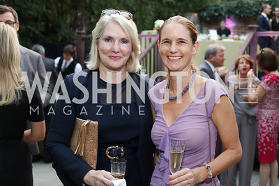 Jan Smith, Gudrun Faudon-Waldner. Photo by Tony Powell. Embassy of Monaco 10th Anniversary. September 22, 2016