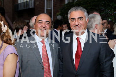Reza Jahanbani, Crown Prince of Iran Reza Pahlavi. Photo by Tony Powell. Embassy of Monaco 10th Anniversary. September 22, 2016
