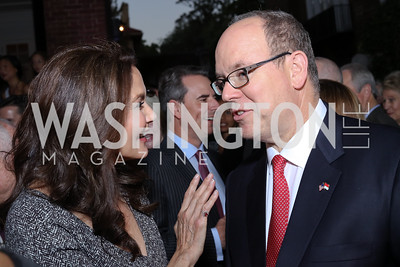 Lynda Carter, HSH Albert II, Prince of Monaco. Photo by Tony Powell. Embassy of Monaco 10th Anniversary. September 22, 2016