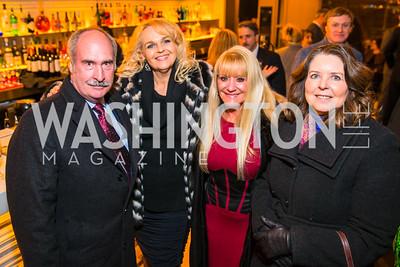 Steven Gifford, Gere Edwards, Rosemary Skaggs, Linda Barrett. Photo by Alfredo Flores. Evening with Bob Paff. POV at W Hotel Washington DC. February 25, 2016