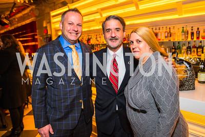 Jason Kahalas, John Madigan, Melissa Eonolis, Tim Eichborn. Photo by Alfredo Flores. Evening with Bob Paff. POV at W Hotel Washington DC. February 25, 2016