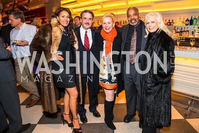 Renee Starlynn Allen, John Madigan, Patty Powers, Rodney Branche, Gayela Bynum. Photo by Alfredo Flores. Evening with Bob Paff. POV at W Hotel Washington DC. February 25, 2016