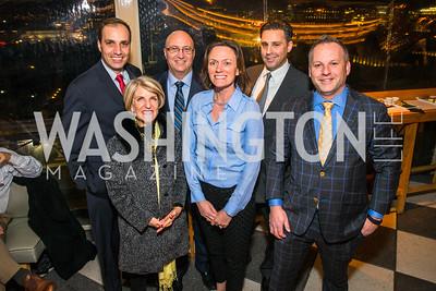 Nicolas Boyron, Carroll Dey, Carl Delmont, Beth Wood, Jason Kahalas, Tim Eichborn. Photo by Alfredo Flores. Evening with Bob Paff. POV at W Hotel Washington DC. February 25, 2016